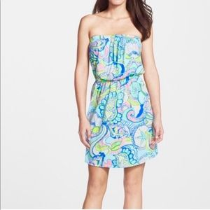 Lily Pullitzer casual strapless dress